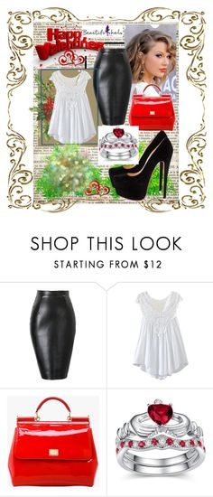 """""""BEAUTIFULHALO #15"""" by nizaba-haskic ❤ liked on Polyvore featuring Christian Louboutin, Dolce&Gabbana, women's clothing, women, female, woman, misses, juniors and beautifulhalo"""