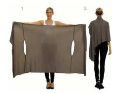 No Sew Layered Wrap Uses One Meter Fabric   The WHOot