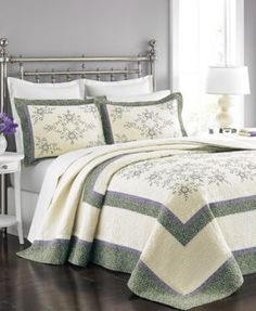 Martha Stewart Collection Emmeline Twin Bedspread 96 CAD ❤ liked