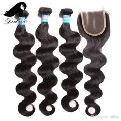 2016 Hot Sale!grade 7a Body Wave Hair Weaves Human Hair 3bundle With 1 Lace Closure Best Quality Wet And Wavy Peruvian Virgin Hair Wefts From Debaja, $65.86 | Dhgate.Com