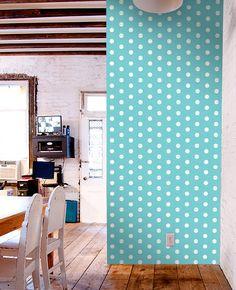 Polka dot self-adhesive modern vinyl Wallpaper wall sticker - Removable wall sticker C017 by PatPrintbyAmy on Etsy