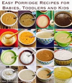 Read article about Easy Porridge Recipes for Babies, Toddlers and Kids on GKFoodDiary - Indian and Baby Food Recipe Blog