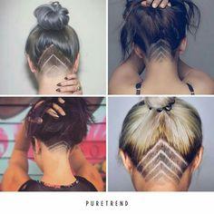 The Best Short Haircut Styles For Women – HerHairdos Undercut Long Hair, Undercut Hairstyles, Pretty Hairstyles, Short Hairstyles, Haircut Styles For Women, Short Haircut Styles, Undercut Hair Designs, Shaved Hair Designs, Hair Tattoos