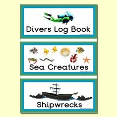 'Under the Sea' Role Play Book Covers