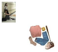 """nancy"" by madeleineclare ❤ liked on Polyvore featuring American Apparel, Toast, NIKE and Topshop"