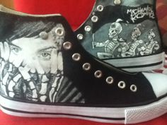 Hand Painted Hi Tops My Chemical Romance by andreabetteridge, $78.00--I NEED THESE IN MY LIFE