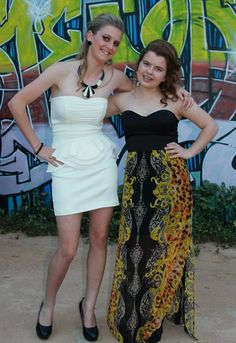 School ball best friends prom dresses fashion photography