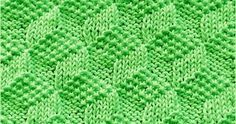"This stitch is called ""Tumbling Moss Blocks"", it looks same on both sides and it's really easy to remember. Only Knit and Purl"