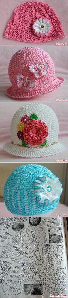 . Мое творчество прошлым летом (много шапочек для малышек) - Все в ажуре... (вязание крючком) - Страна Мам
