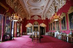 The State Dining Room is used by The Queen for official entertaining.