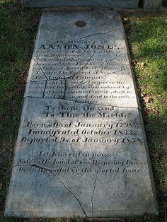 Anson Jones' grave site in Houston, TX. Jones was the last President of the Republic of Texas.