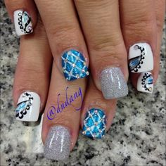 73 Best Nails Different Design On Each Finger Images On Pinterest