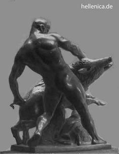 Hercules Greek Mythology | Hercules and the boar , Louis Tuaillon (7. September 1862 Berlin ...