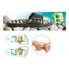 """Reflexology Sandal - Medium (Black) (4""""H x 4""""W x 10.5""""D)"""