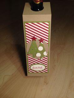 Stampin up, flaschenanhänger , Weihnachten