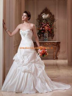 Schöne Brautmode modern aus Taft A-Linie Stuttgart kaufen online