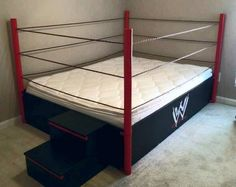 Wrestling Bedroom Decor Prepossessing A Wrestling Ring Bed No One Would Sleepjust Play P  My Dream Inspiration