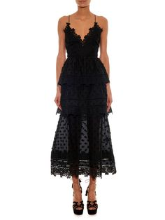 Tiered lace midi dress | Self-portrait | MATCHESFASHION.COM US