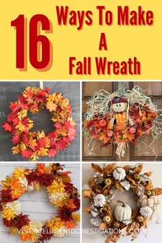 Halloween Home Decor, Halloween House, Fall Home Decor, Fall Halloween, Halloween Decorations, Diy Fall Wreath, Wreath Ideas, Fall Wreaths, Fall Crafts