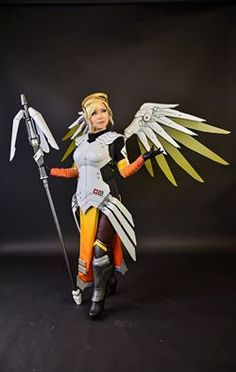 Overwatch Inspired Mercy Halo Handmade Fan Art Cosplay Accessory for Mercy Costume