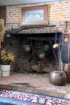 Cooking fireplace in the summer kitchen!