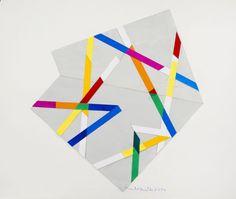 René Roche (1932-1992)  Composition, circa 1984-85  Dix gouaches et collages sur papier  50 x 65 cm.