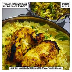 Tandoori chicken made Slimming World friendly. Tastes good and features a decent way of eating romanesco, a handy speed food. Smells like farts, mind. Slimming World Dinners, Slimming World Diet, Slimming Recipes, Slimming Eats, Healthy Eating Recipes, Cooking Recipes, Healthy Dinners, Healthy Food, Low Carb Brasil