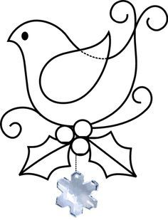 Stained Glass Dove pattern