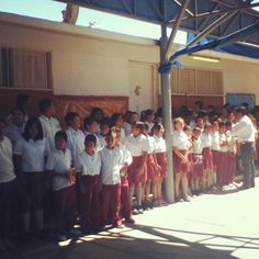 The kids at the school we donated to in Mexico.