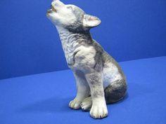 Lenox Gray Wolf Pup Porcelain Animal Figurine Smithsonian Endangered Species