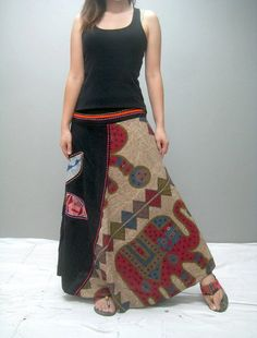 Gypsy skirt 315.4 by thaitee on Etsy