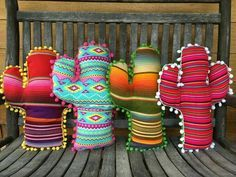 These would make cute cushions for a child's bedroom or to take to school with t… – Cactus Sewing Crafts, Sewing Projects, Sewing Ideas, Cute Cushions, Cactus Decor, Cactus Craft, Cactus Cactus, Diy And Crafts, Boho