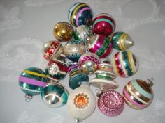 I remember all these bulbs so well. Every family hung these on their tree every year in the '50s and '60s.