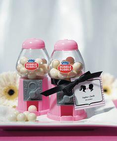 Moonlit Bridals - MINI CLASSIC PINK GUMBALL DISPENSER, $3.98 (http://www.moonlitbridals.com/mini-classic-pink-gumball-dispenser/)