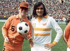 1976: Elton John & George Best with the LA Aztecs