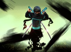 Ninja Photomanipulation - Child's Halloween costume.