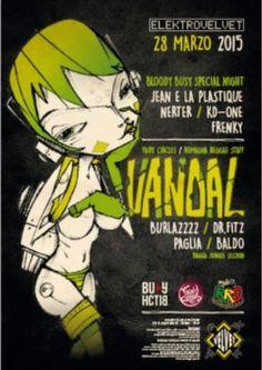 Torna l'appuntamento con la musica elettronica del Velvet Rimini. Sabato 21 marzo 2015 arriva l'Electrovelvet con Vandal.
