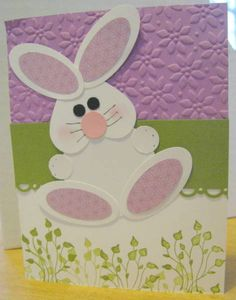 A really cute Easter card by Shari O'Connor, SU demonstrator