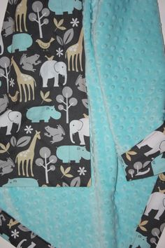 Minky Baby Blanket Baby Zoology with Tiffany by modernmadebaby, $36.00