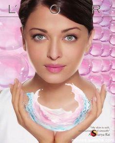 "Aishwarya Rai Wallpapers: Aishwarya As ""L'Oreal Model"""