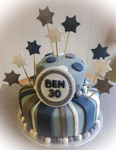 30th birthday cake for a male
