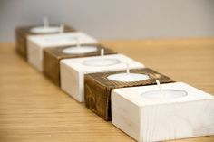 Wood Candle Holders | Cafe Candle