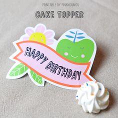 Loving this FREE printable Birthday Cake Topper by @pinknounou