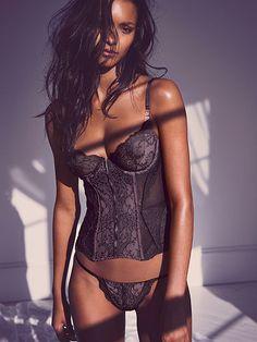 Lace & Mesh Corset - Very Sexy - Victoria's Secret