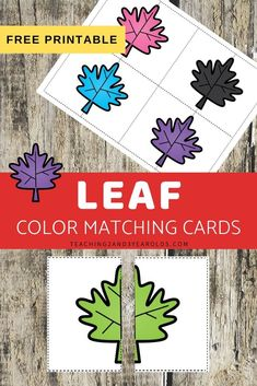 Work on simple symmetry and balance with these leaf color matching printable cards. Fun for your fall theme! Preschool Color Activities, Fall Activities For Toddlers, Autumn Activities, Toddler Preschool, Preschool Centers, Preschool Classroom, Preschool Ideas, Matching Cards, Matching Colors
