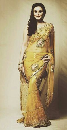 Nice yellow saree.......