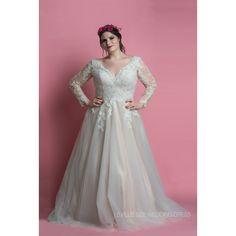 Plus size wedding dress by LS Plus Size Wedding Dress