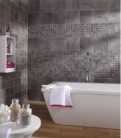 1000 images about salle de bain on pinterest ikea - Carrelage leroy merlin gris ...