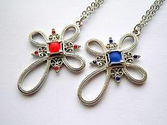 royal ornate cross pendant necklace by VintageHomage on Etsy, $7.00
