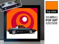 Personalisiertes Foto vom Auto Oldtimer als Pop Art Bild - Weihnachtsgeschenke für Männer Pop Art Bilder, Pop Art Poster, Pop Art Portraits, Tech Logos, Bunt, Creative, Etsy, Color, Autos
